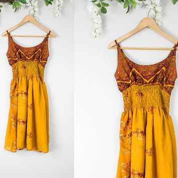 Vintage Hippie Earthy Dress