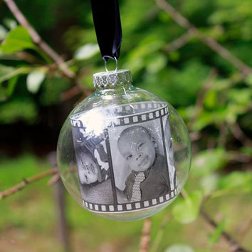 Baby's first ornament, Photo booth strip ornament, Our First Christmas, Custom Christmas Ornament, Personalized Ornament, Photo Ornament