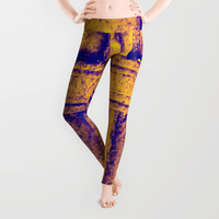 IN THE NAME OF THE FATHER - GOLD Leggings by David Darcy
