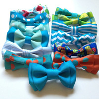 Baby bowtie, boys bowties, or mens bowtie perfect for fourth of July , Photo Prop, or Photography Session.