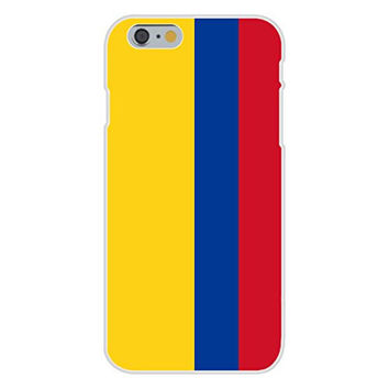 Apple iPhone 6 Custom Case White Plastic Snap On - Colombia - World Country National Flags