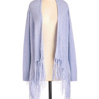 Pastel Short Length Long Sleeve Fringe by Inch Cardigan