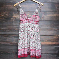 bali nights boho dress - wine