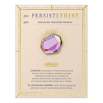 Persistethyst Fantasy Stone Magnetic Enamel Pin in Multicolor