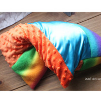 rainbow  weighted Hug Pillow - iep meeting autism ADD ADHD heated sensory processing disorder asperger's therapy weighted pillow kids adults