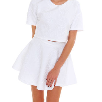 Better Together Two Piece Dress Set - White