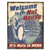 Heavy Metal Sign Nut House