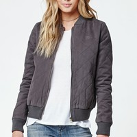 Element Vera Quilted Bomber Jacket - Womens Jacket - Black