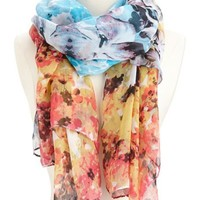Tropical Floral Lightweight Scarf: Charlotte Russe