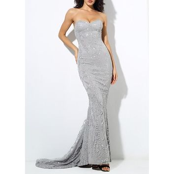Starlet Silver Luxury Gown