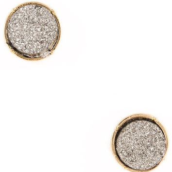 Druzy Circle Earrings