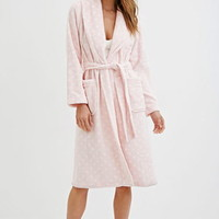 Plush Polka Dot Robe