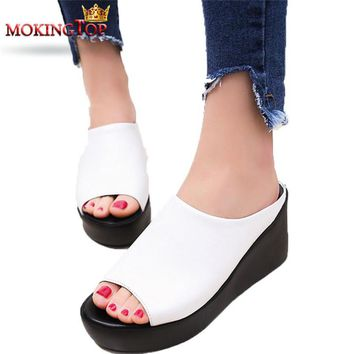 Spring/Summer Collection/Women/Girls/Baby   Fish Mouth Wedge Sandals For Woman