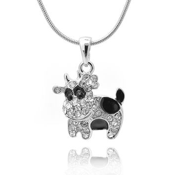 Black Spot Cow Necklace
