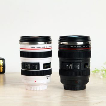 Camera Lens Shape Cup Coffee Tea Travel Mug