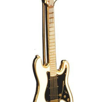 Stratocaster Electric Guitar Pin - White