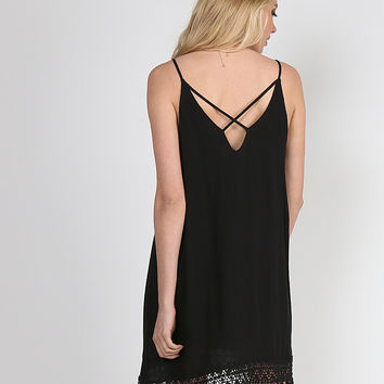 Crochet Cross Dress - Black