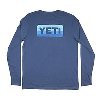 Logo Badge Long Sleeve Tee in Navy by YETI