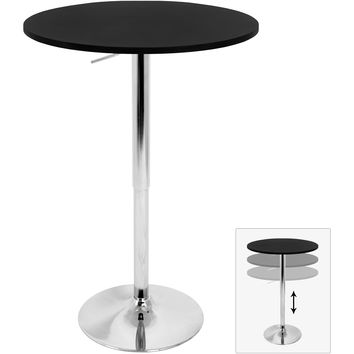 Adjustable Bar Table, Black