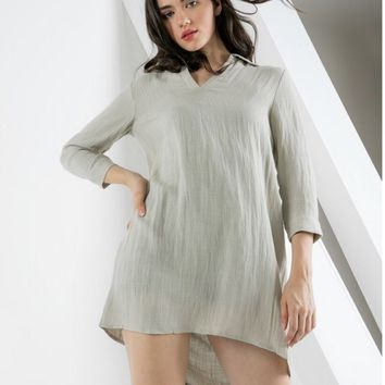 680d6bdfb Amelia champagne Thml Collar Shift Tunic or Dress