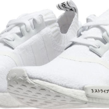 NMD R1 Primeknit Japan Triple White Mens Running Shoe (Running White)