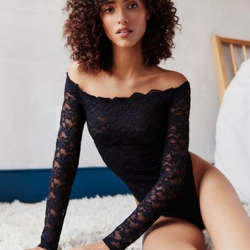 Free People Off-The-Shoulder Cutie Pie Bodysuit
