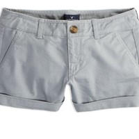 AEO Women's Midi Short (Grey)