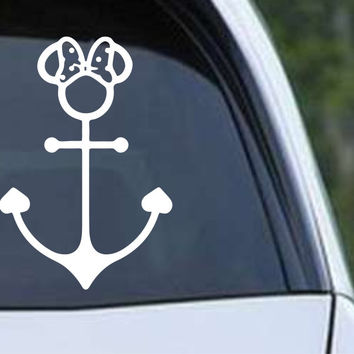 Minnie Mouse Anchor Die Cut Vinyl Decal Sticker