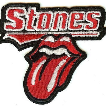 Rolling Stones Iron-On Patch Tongue Letters Logo