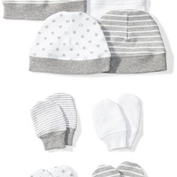 Moon and Back Baby Set of 4 Organic Cap and Mitten Sets
