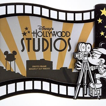 "Disney Parks Hollywood Studios Mickey Director Photo Frame 4""x6"" New"