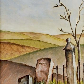 Boot Hill Modernist Painting