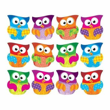 (6 PK) OWL STARS CLIPS ACCENTS