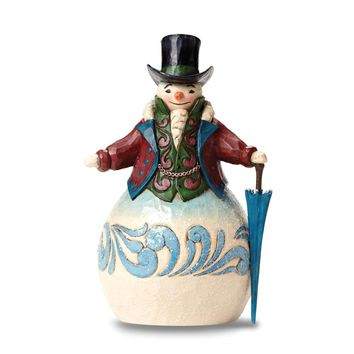 Jim Shore Victorian Snowman With Top Hat Figurine