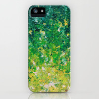 LAKE GRASS - Original Acrylic Abstract Painting Lake Seaweed Hunter Forest Kelly Green Water Lovely iPhone Case by EbiEmporium | Society6