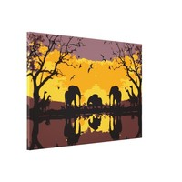 Hello Africa Premium Wrapped Canvas (Gloss)