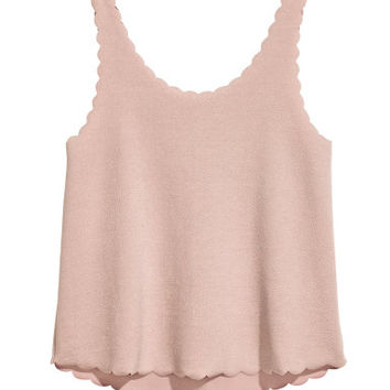 H&M Tank Top with Scalloped Edges $12.99