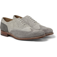 Grenson - Dylan Suede and Nubuck Longwing Brogues | MR PORTER