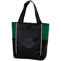 Paw Print Colorblock Tote Bag