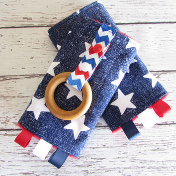 Star Struck Suck Pads with Teething Ring - Drool Pads - Reversible - Tula accessories, RTS
