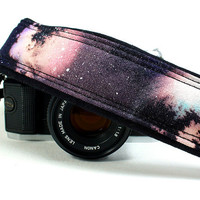 Galaxy No.5 Camera Strap, Handpainted, OOAK, dSLR or SLR, Cosmos, Nebula