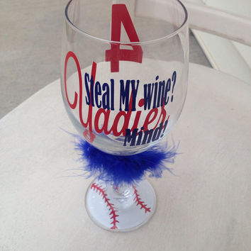 Yadier Molina, St Louis Cardinals, wine glass, cardinal nation, cardinals, personalized wine glass, baseball, mlb, stl, stl cardinals, molin