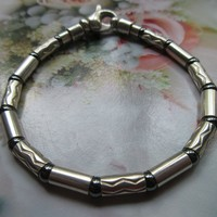 Tiffany and Co. Sterling Chased Link Bracelet