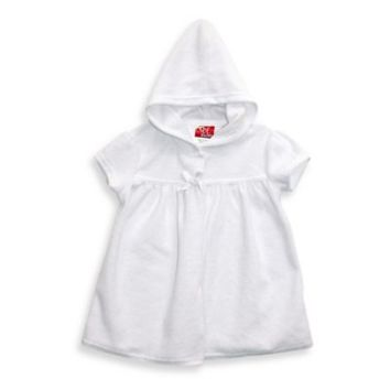 sol swim® Hooded Terry Cover-Up in White