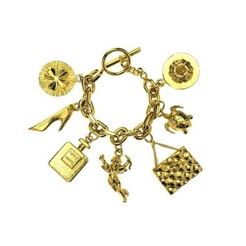 Pre-owned Chanel Vintage Lucky 7 Charm Bracelet