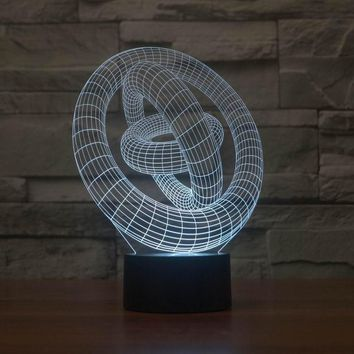 JC-2868  Amazing 3D Illusion led Table Lamp Night Light with  magic circle shape