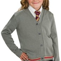 Harry Potter Hermione Granger Hogwarts Cardigan and Tie Costume - Small