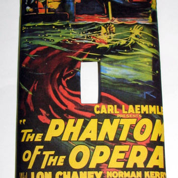 Light Switch Cover - Light Switch Plate Phantom of the Opera Vintage Movie Poster