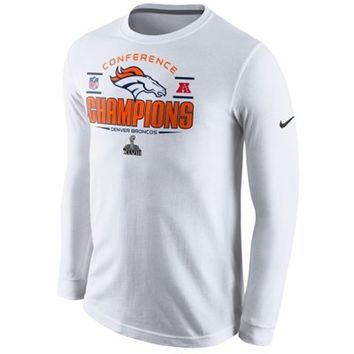 Nike Denver Broncos 2013 AFC Champions Trophy Collection Long Sleeve T-Shirt - White