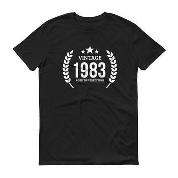 Men's Vintage 1983 Aged to perfection T-shirt - 1983 birthday gift ideas - 34th birthday
